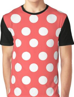 Polka over Light Red (large dots) Graphic T-Shirt