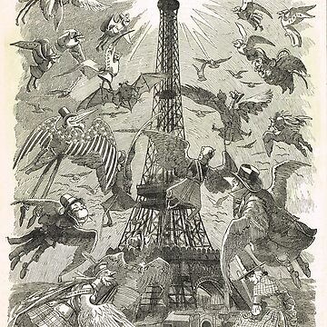 Eiffel Tower World's Fair 1889 engraving by artfromthepast