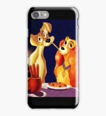 lady and the tramp dinner iPhone Case/Skin