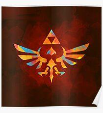 Skyward Sword Paint Orange Poster