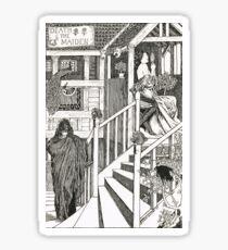 Death & the Maiden by Byam Shaw 1895 Sticker