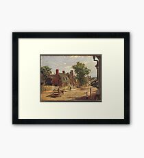 Francis Blackwell Mayer - Old Annapolis, Francis Street Framed Print