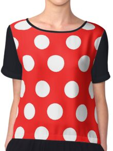 Polka over Red (large dots) Chiffon Top