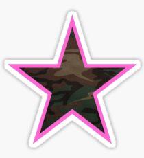 Camo Star Sticker