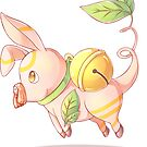 Floating Pig Side View - MeatPossible by cvisual