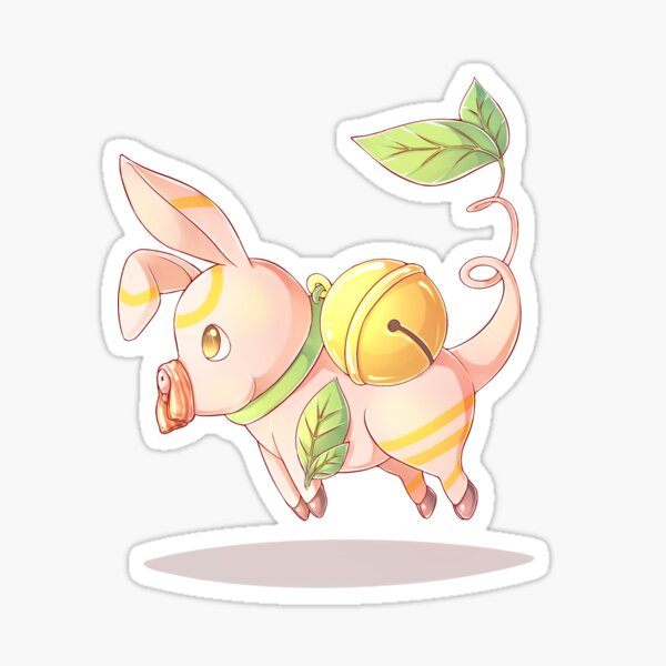 Floating Pig Side View - MeatPossible Sticker