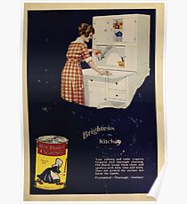 Advertisements Photoplay Magazine July through December 1921 0735 Old Dutch Cleanser Poster