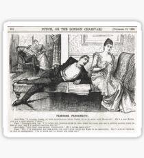 Reverse Psychology Punch Cartoon 1888 Sticker