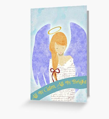 angel greeting cards  redbubble, Greeting card