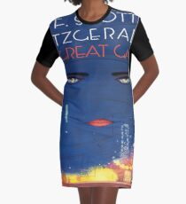 The Great Gatsby - Square Book Cover Graphic T-Shirt Dress