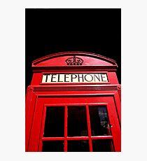 Red London Telephone Box Photographic Print