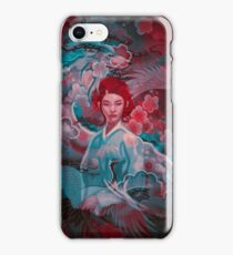 Girl and the dragon iPhone Case/Skin