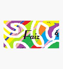 Faiz - Original painting personalized with your name Photographic Print