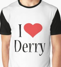 """Stephen King's IT """"I Love Derry""""  Graphic T-Shirt"""