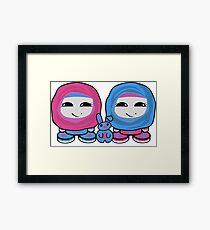 Aliyah & Laylah O'BABYBOT Toy Robots (and Pocket) Framed Art Print