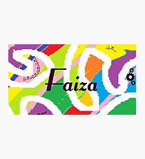Faiza - Original painting personalized with your name Photographic Print