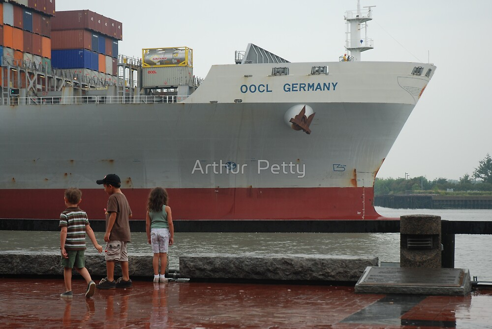 "Container Ship Heading Out by Arthur ""Butch"" Petty"
