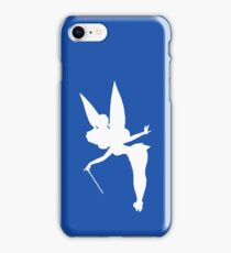 White Tinker Bell Silhouette iPhone Case/Skin