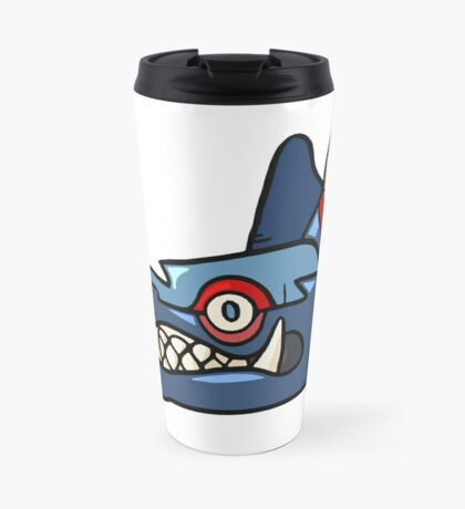 Tribal Wolf Mask Travel Mug