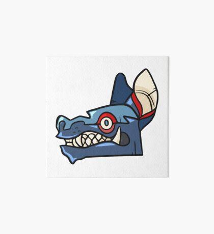 Tribal Wolf Mask Art Board Print