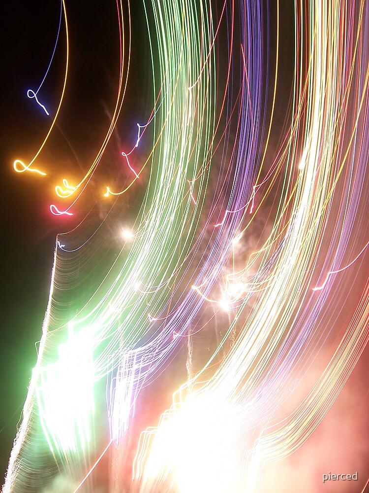 Fireworks-dud shot by pierced