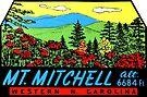 Mount Mitchell North Carolina Vintage Travel Decal by hilda74