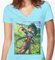 Lyn - Fire Emblem: The Binding Blade  Women's Fitted V-Neck T-Shirt