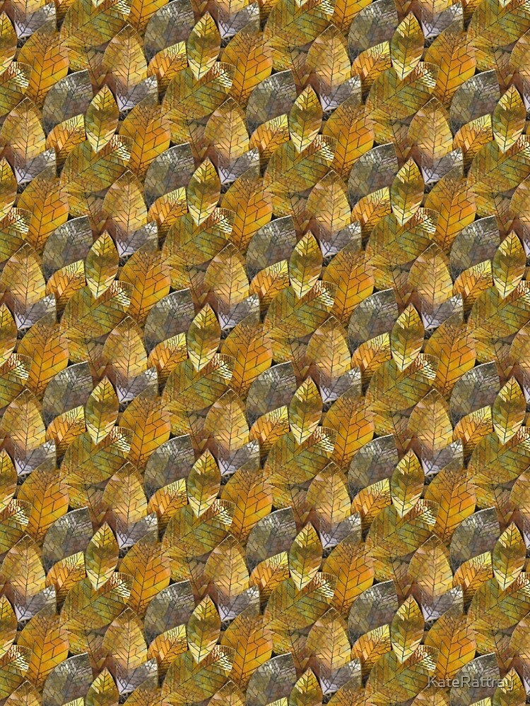 Golden Leaves Mosaic by KateRattray