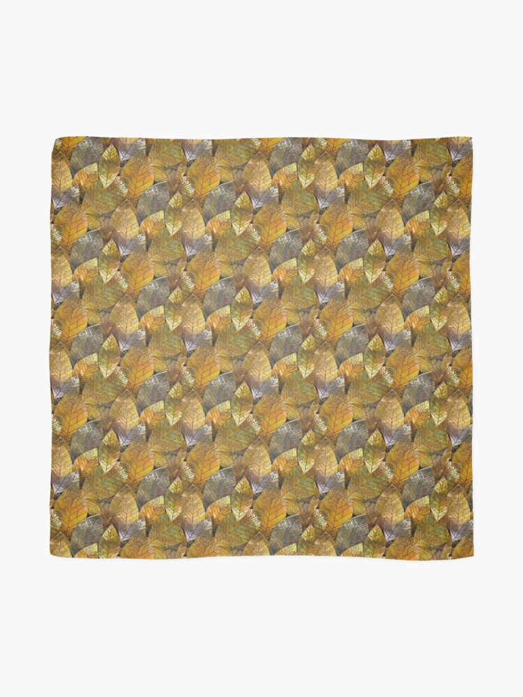 Alternate view of Golden Leaves Mosaic Scarf