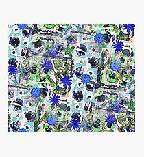 Blue Flowers Photographic Print
