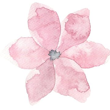 Pretty little pink flower watercolour by Mindreader