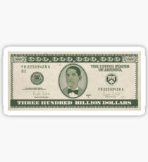 Trump's 300 billion dollar note from Angela Merkel Sticker