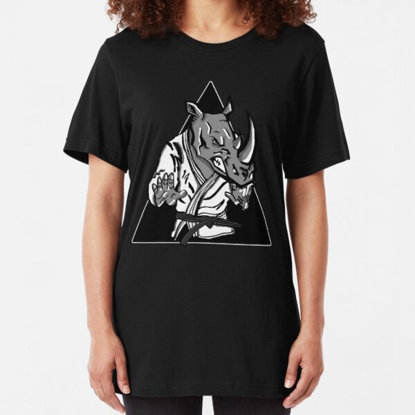 BLACK BELT RHINO  Slim Fit T-Shirt