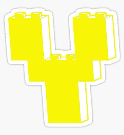THE LETTER Y Sticker
