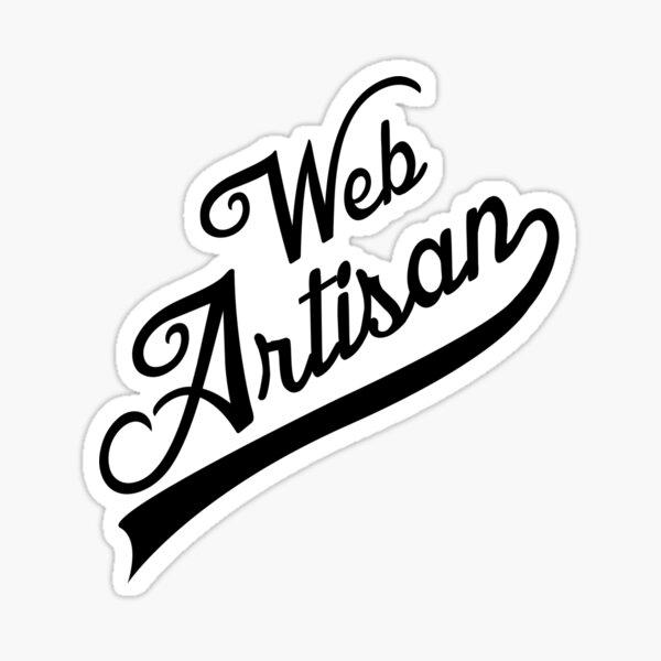 web artisan black Sticker