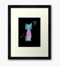 Console Kitty Framed Print