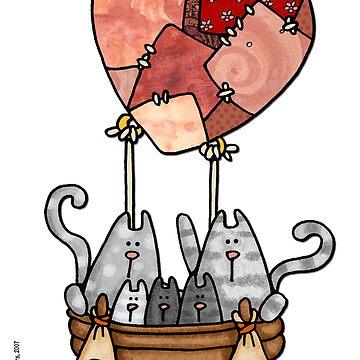 Kitty love balloon by cfkaatje
