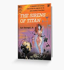 The Sirens of Titan by Kurt Vonnegut - Siren Cover Greeting Card
