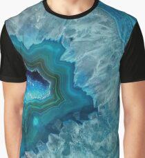 Camiseta gráfica Teal Druzy Agate Quartz