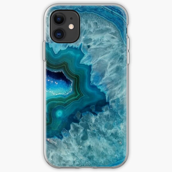 Cute Geode Slice Agate Stone iPhone 11