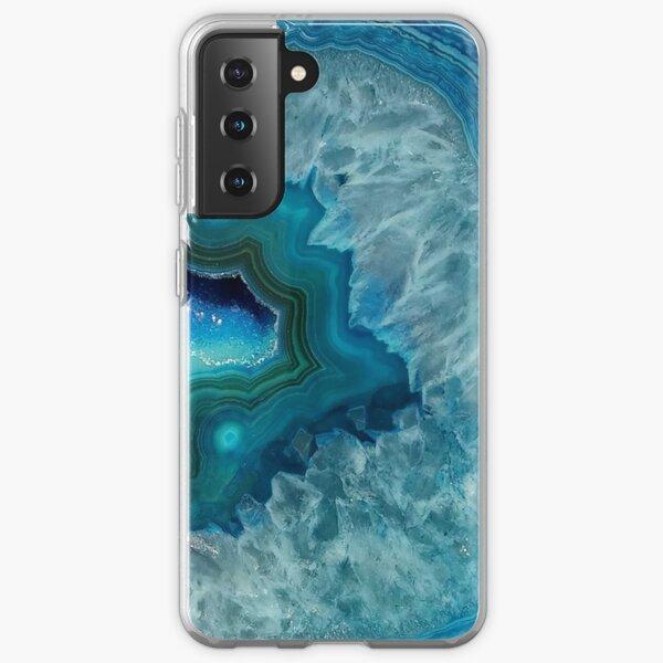 Teal Druzy Agate Quartz Samsung Galaxy Soft Case