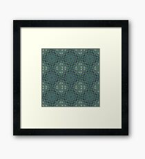 Abstract Shapes & Polygons (Light Green) Framed Print