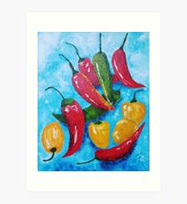 Hot Chillies Art Print