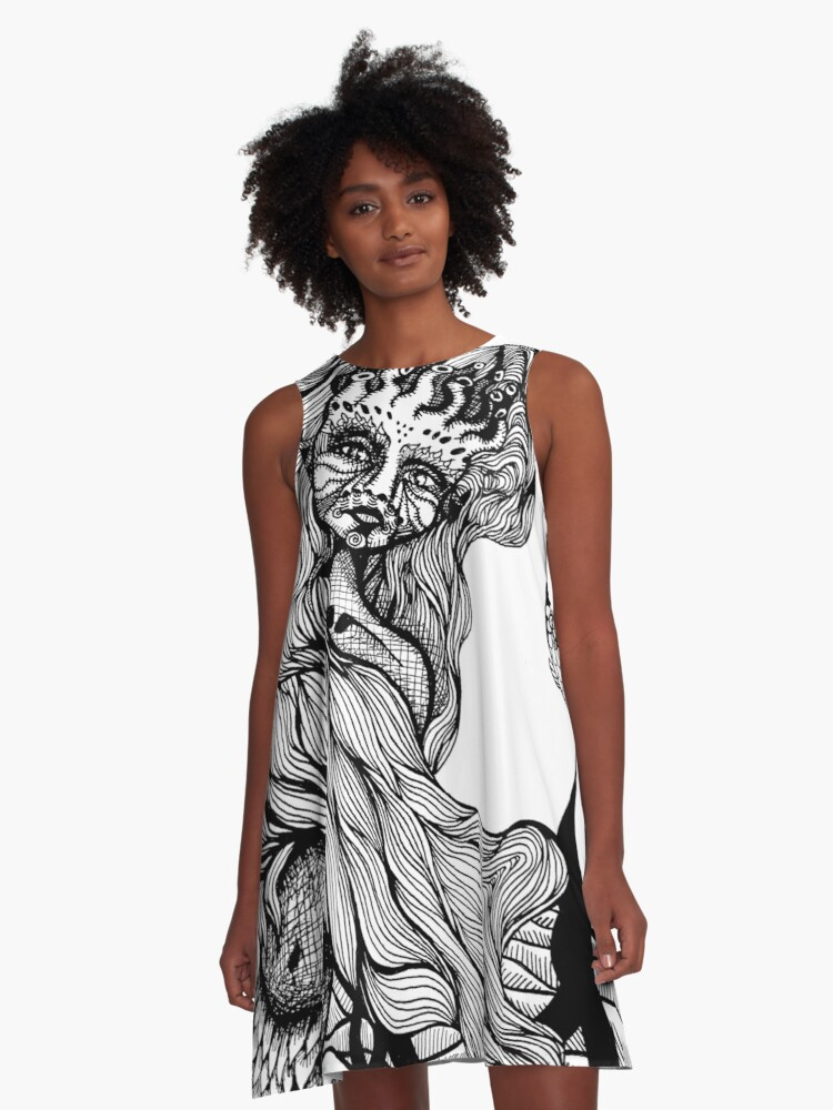 Midday Daydreams A-Line Dress Front