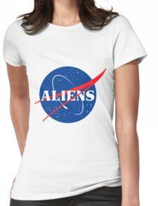 Nasa Aliens Parody Logo Womens Fitted T-Shirt