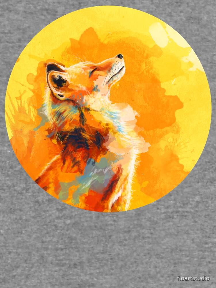 Glückseliges Licht - Fox-Illustration, Tierporträt, inspirierend von floartstudio