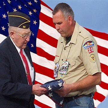 flag retirement ceremony by conilouz