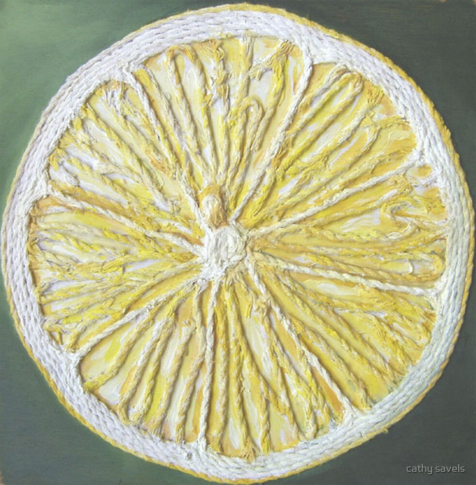 lemon slice by cathy savels