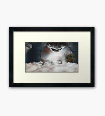 PotterWhoLock Surrealism Framed Print