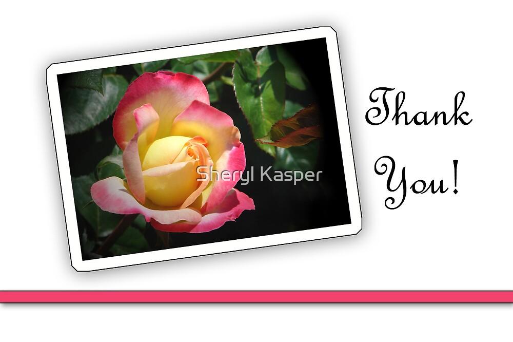 Rose Thank You by Sheryl Kasper